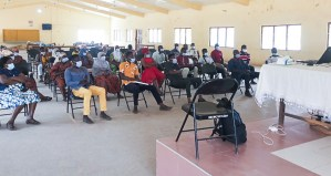 A cross-section of the participants of the training session.