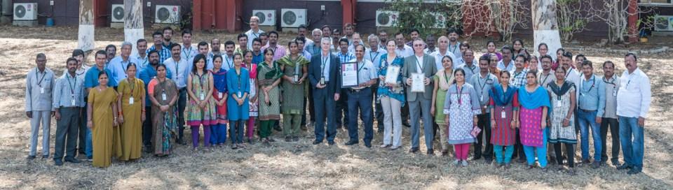IDC team with the award. Photos: PS Rao ICRISAT