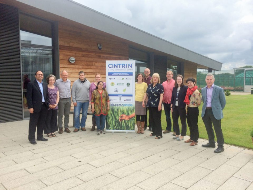 Launch meeting of CINTRIN in Cambridge, attended by all partners of consortium. Photo: ICRISAT