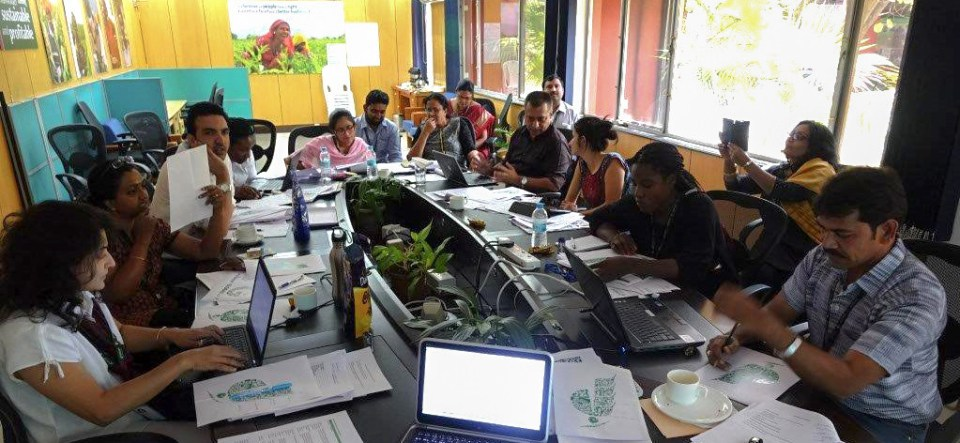 SMC team at the Communications Meet-2016. Photo: J Kane-Potaka, ICRISAT