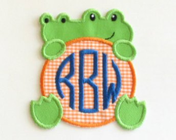 Custom Embroidery - Embroidered aligator