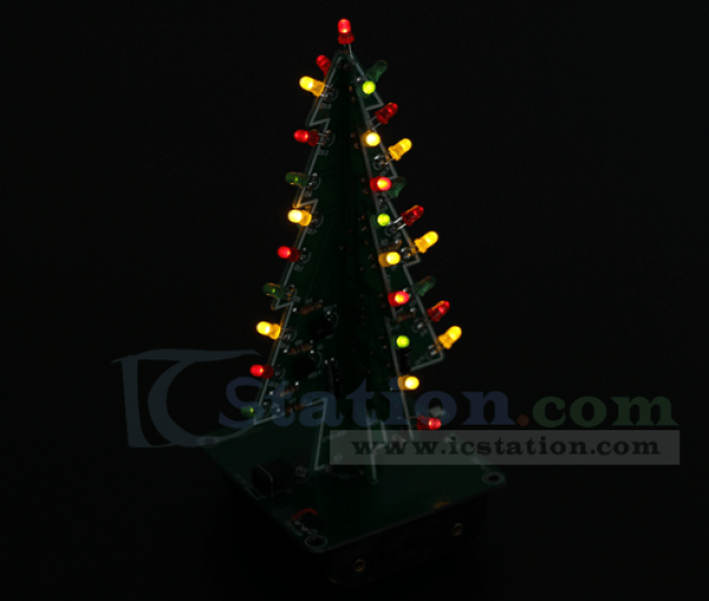 Diy Kit D Christmas Tree Kit With  Colors Red Green Yellow Flashing Led