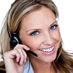 Woman-using-a-headset