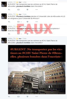 Fake Tweets to induce panic in Brussels