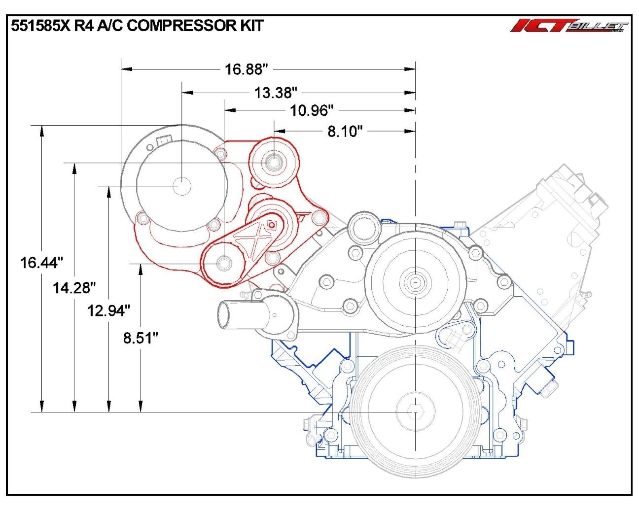 Ls Truck R4 A C Air Conditioner Compressor Bracket Kit Suv