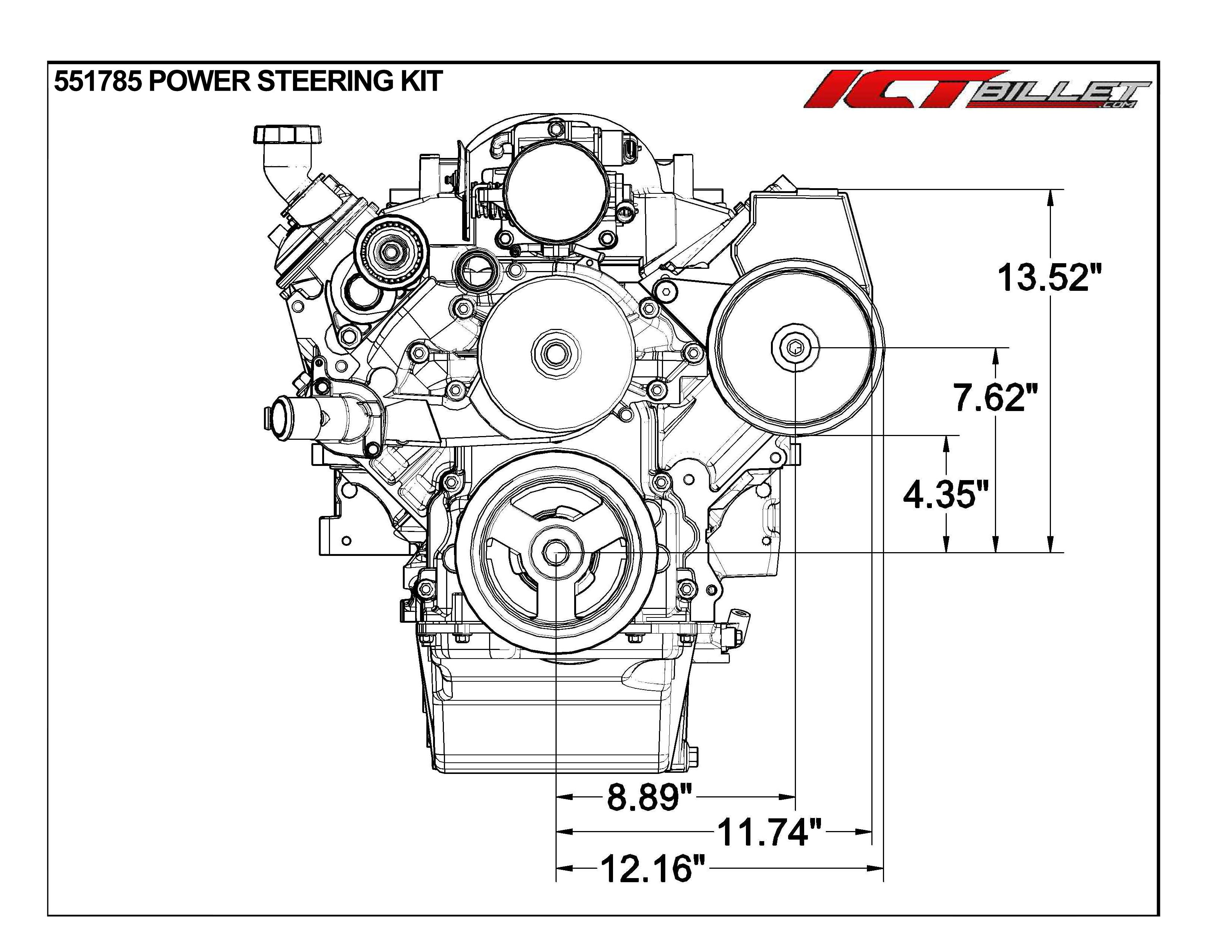 Ls1 Camaro Power Steering Pump Bracket Kit Z28