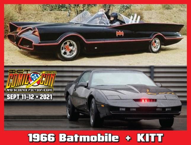 1966 Batmobile and KITT