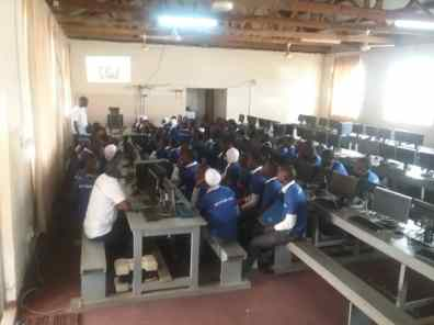 Masaka SS Students in the Lab