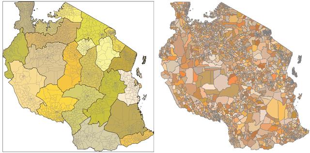 tanzania administrative boundry map