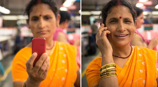 india woman mobile phone