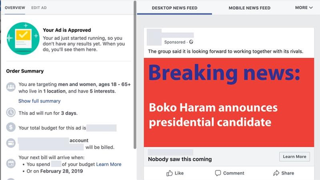 facebook fake nigeria elections