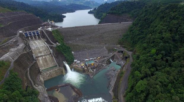 The Reventazón dam. Image from Costa Rica Energy Institute (ICE.)