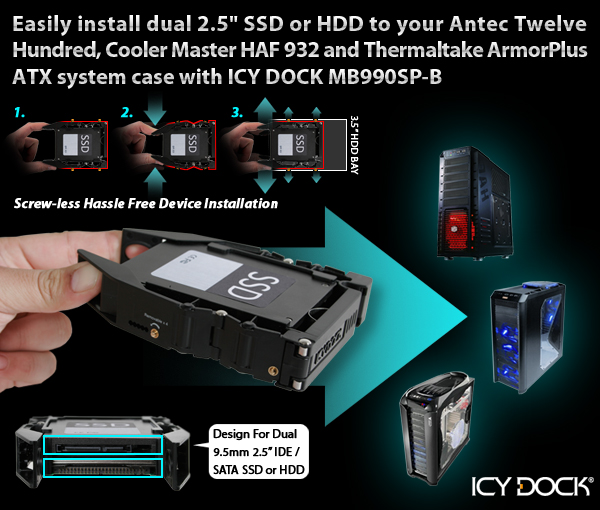 Icy Tip The Easiest Way To Install The 2 5 Quot Ssd Or Hdd To
