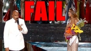 Steve Harvey at the Miss Universe Pagent
