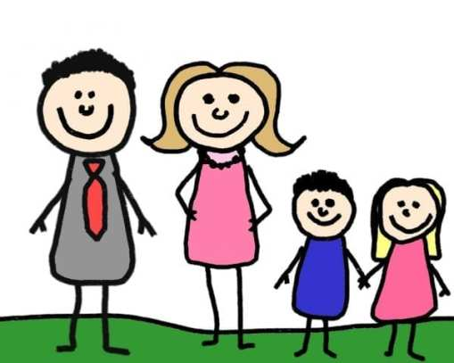 Image result for 2 children with parents