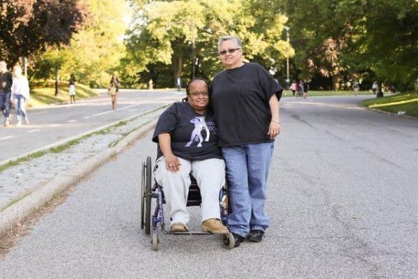 """""""We met on a dating site twelve years ago. I sent her a message saying: 'I want to let you know up front that I'm in a wheelchair, because I can't hide it.' And she wrote back: 'Why? Is it bright yellow?'"""""""