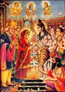 Devi paravati and shiva marriage