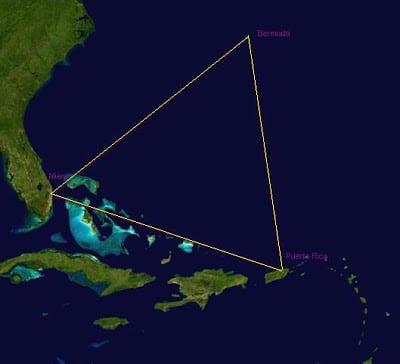 The Bermuda Triangle, Atlantic Ocean