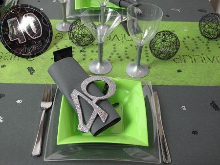 idees deco table d anniversaire 40 ans