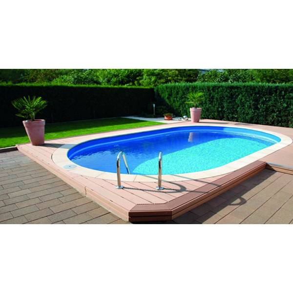 kit piscine enterree ovale 7 x 3 5 150 cm aqualux