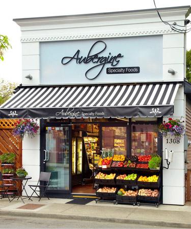 Aubergine store front
