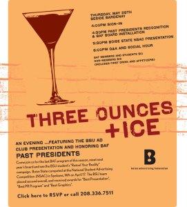 Boise Advertising Federation - Three Ounces + Ice