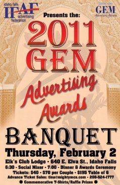 Idaho Falls Advertising Federation 2011 Gem Awards Banquet