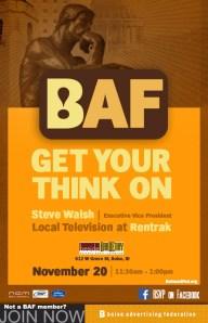 BAF - Get your think on - Steve Walsh