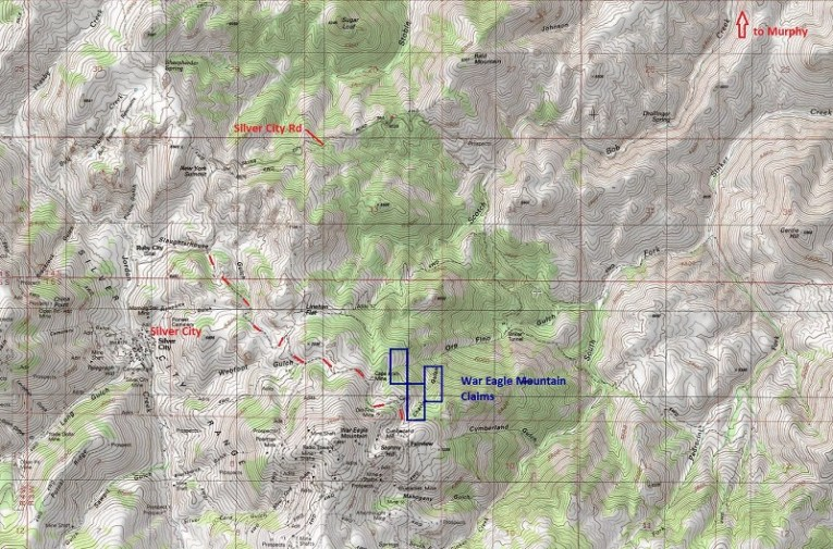 War Eagle Mountain claims driving map