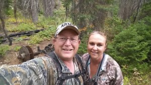 My Wife and I Cam Shaft in the Background.