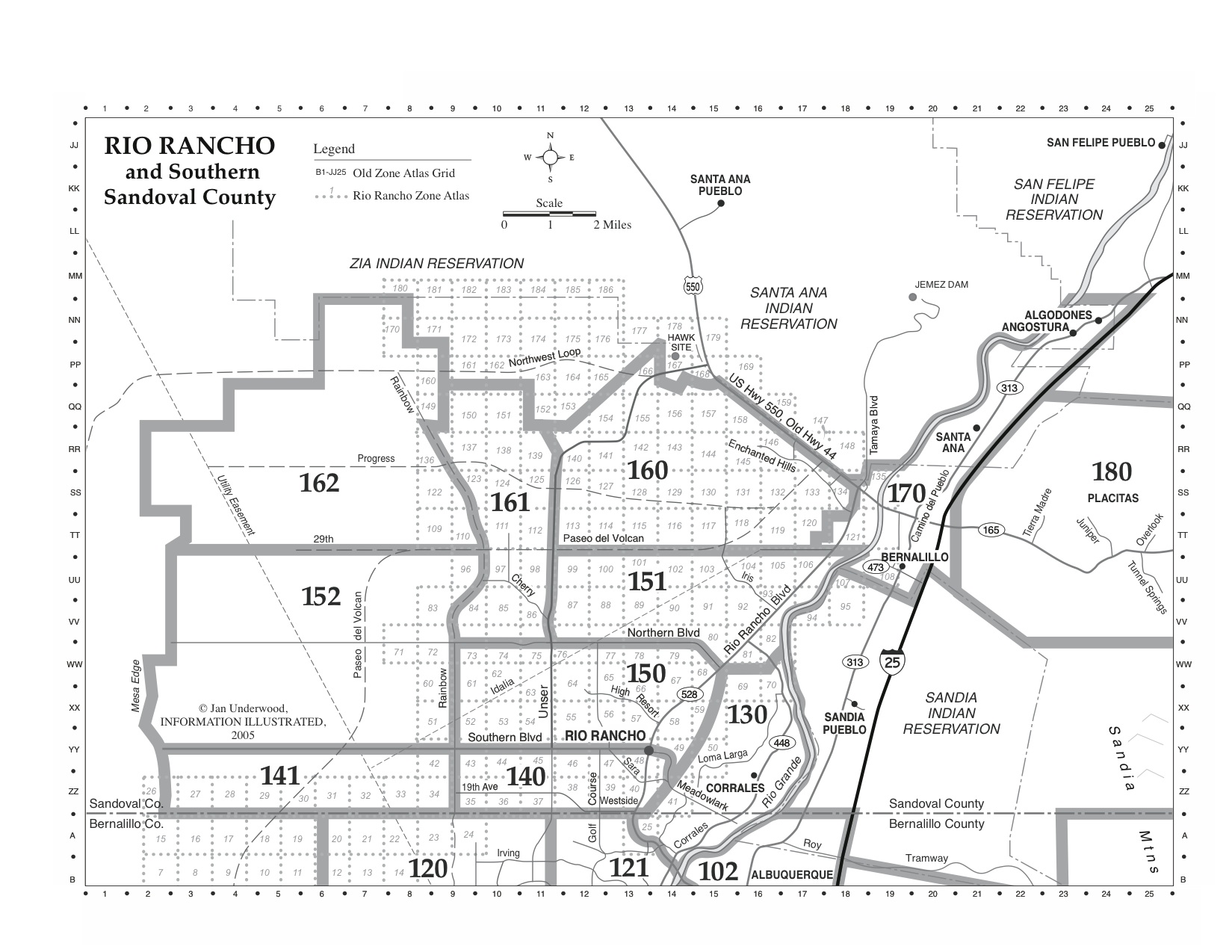 Rio Rancho Zip Code Map