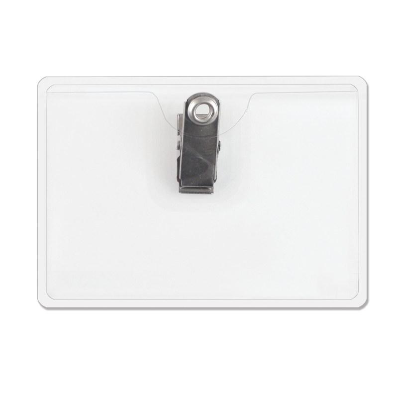 Horizontal Top Load Badge Holder w/ Clip