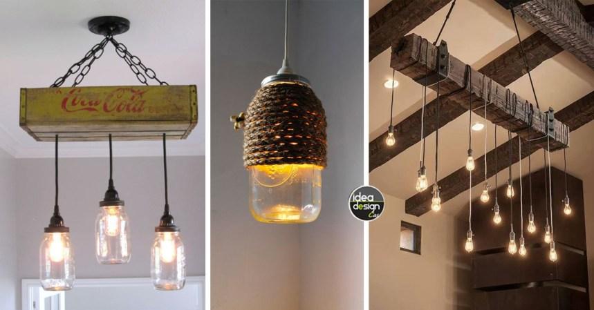 Idee Per Il Fai Da Te Legno : Ecco 25 idee per realizzare in modo semplice un lampadario in legno