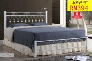 katil besi queen murah, katil besi queen putih, harga katil besi, jual katil besi, katil besi 3v,