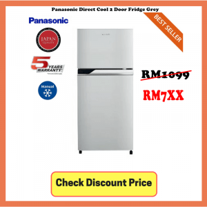 Panasonic Direct Cool 2 Door Fridge Grey