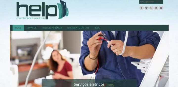 Desenvolvimento de site responsivo para help reformas