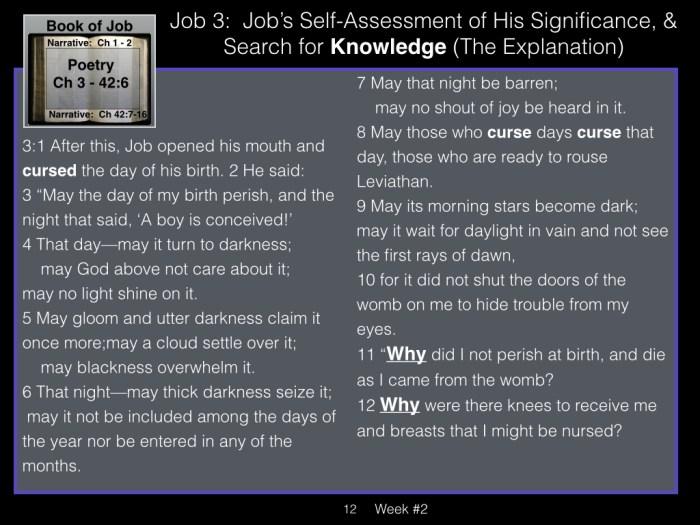 Book of Job, Week #2 LB.012