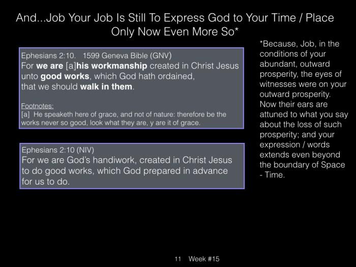 Book of Job, Raz, Week #15.011