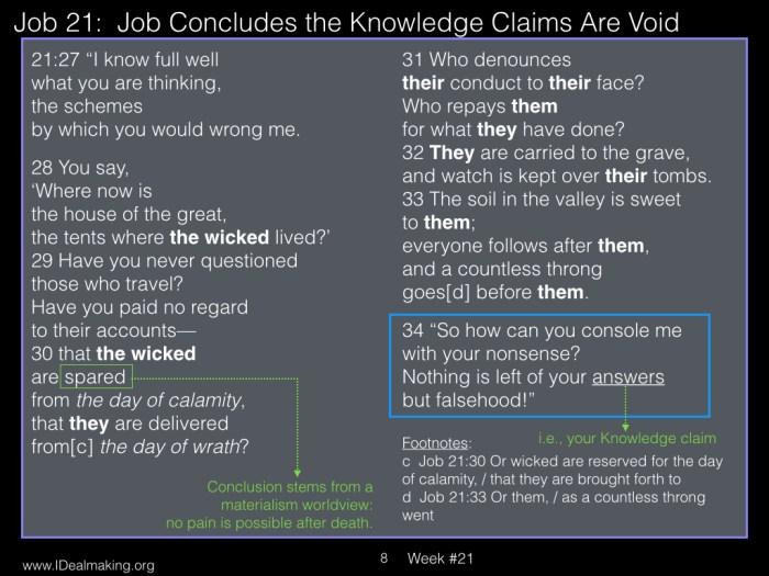Book of Job, Week #21 LB.008