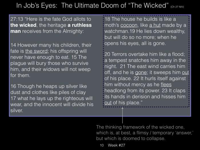 Book of Job, Week #27 LB.010