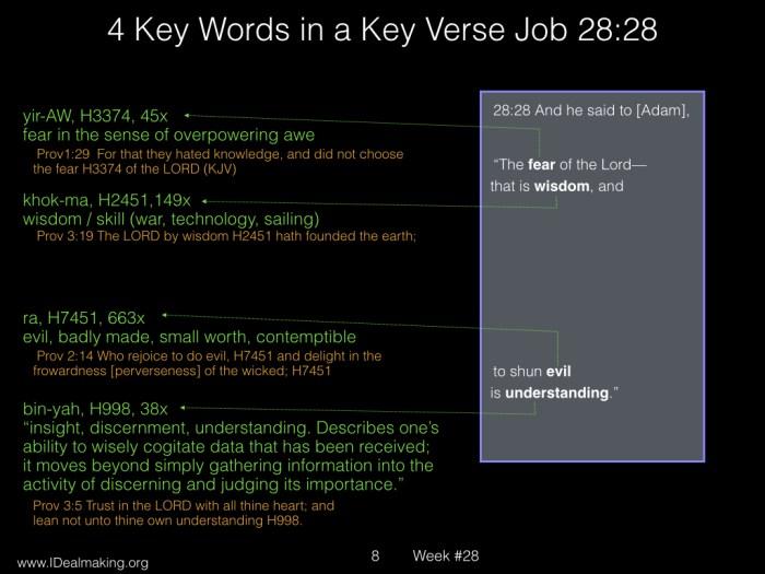 Book of Job, Week #28 LB.010