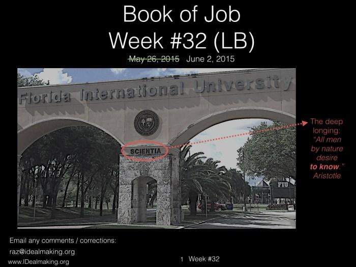 Book of Job, Week #32 LB.001