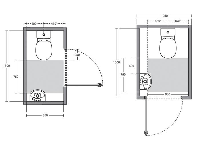 danom sida wc dimensions minimum