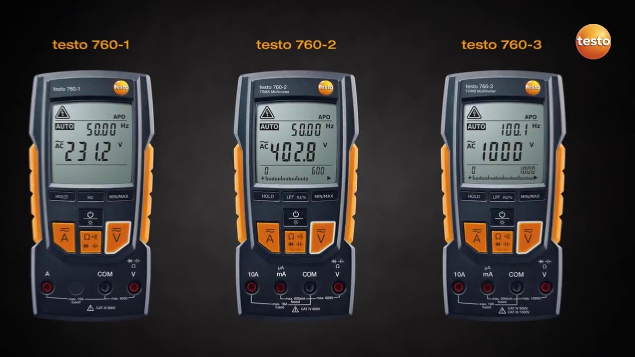 TESTO 760 series Automatic Multimeters