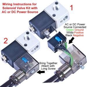 Ideal Vacuum | NEW Solenoid Valve Kit for KF10  KF50 Electro Pneumatic Vacuum Valves  AC 110V