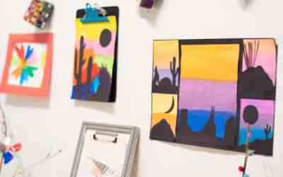 Create an art gallery at home