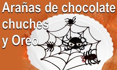 Arañas comestibles para Halloween