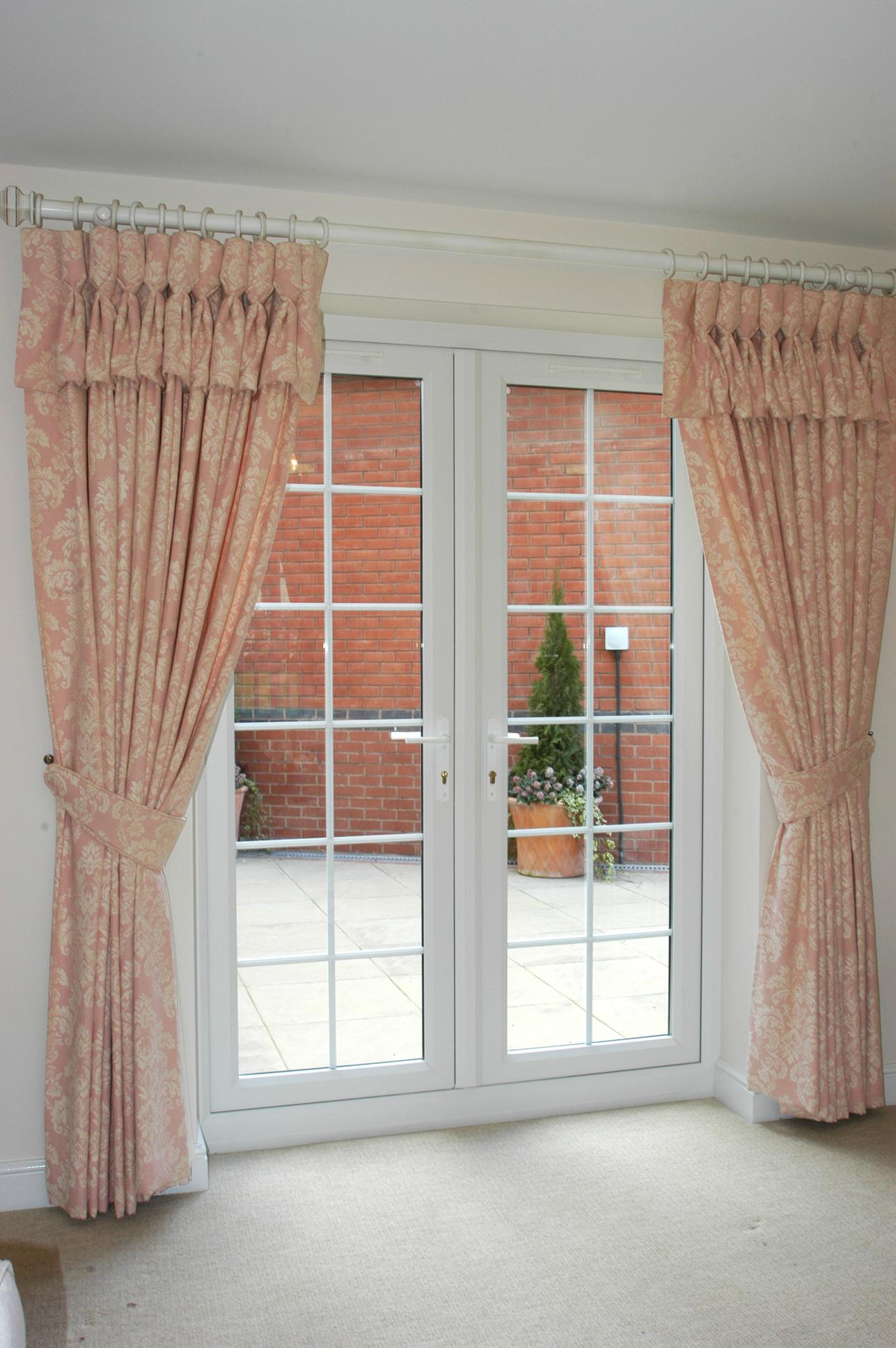 Wtsenates Enchanting French Door Curtain Idea Living Room In Collection 5026