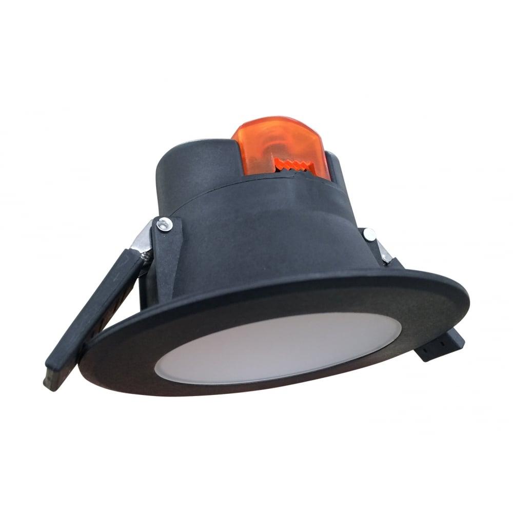 source black pvc ip44 outdoor spotlight led soffit light