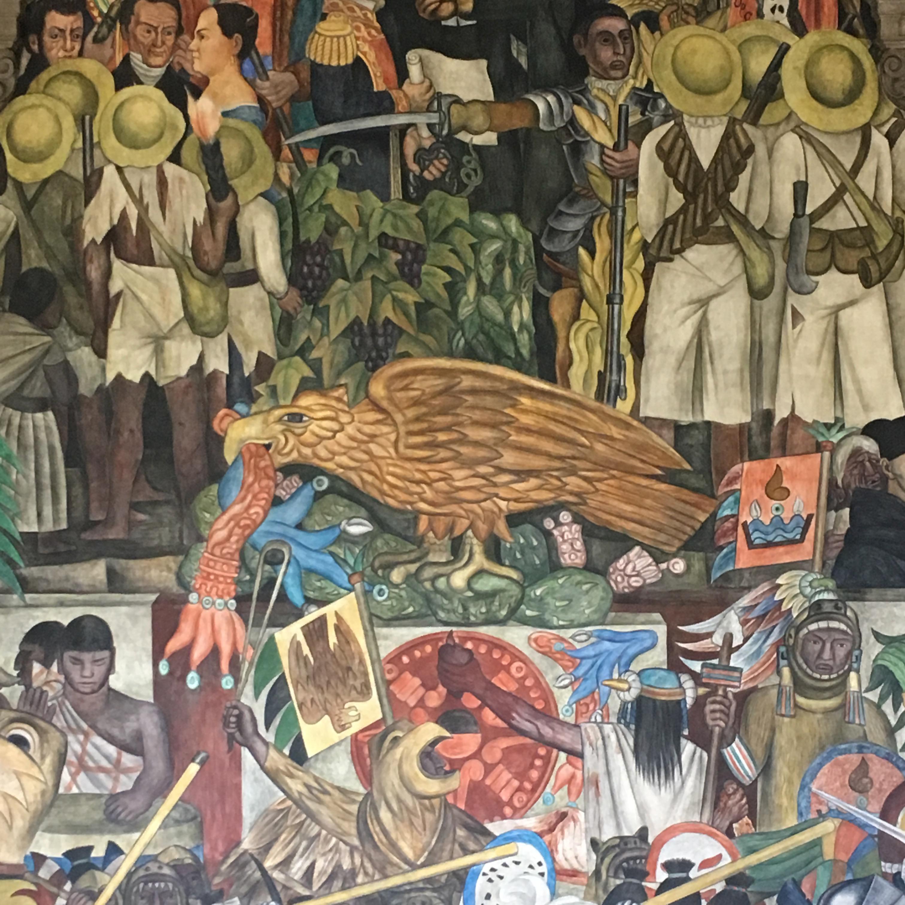 Detalle del mural de Diego Rivera CDMX (Ideas on Tour-Anna Rodriguez Casadevall)